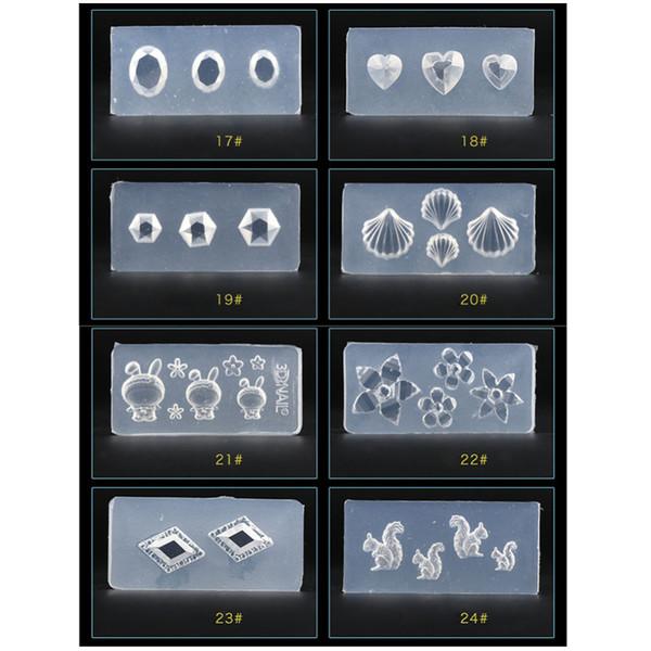 DIY ногтей силиконовые формы Шаблоны 3D стерео силиконовые формы ногтей Шаблоны шаблон плесень ногтей салон DIY Дизайн
