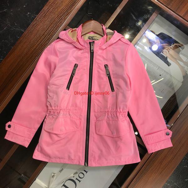 Chaqueta cortavientos para niños ropa de diseñador para niños chaqueta cortavientos con capucha tela impermeable forro de otoño e invierno abrigo de algodón nuevo