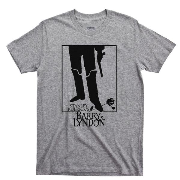 T Shirt BARRY LYNDON Stanley Kubrick Ryan O'Neal Film Tee Poster Blu Ray DVD 2018 Nuova T Shirt da uomo a manica corta 100% Cotone Top Tee da uomo