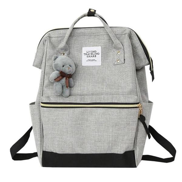 2019 New Women Bear Backpack Preppy Style Hand Back Bag Oxford Cloth Travel School Shoulder Bags for Girls Mochila Feminina