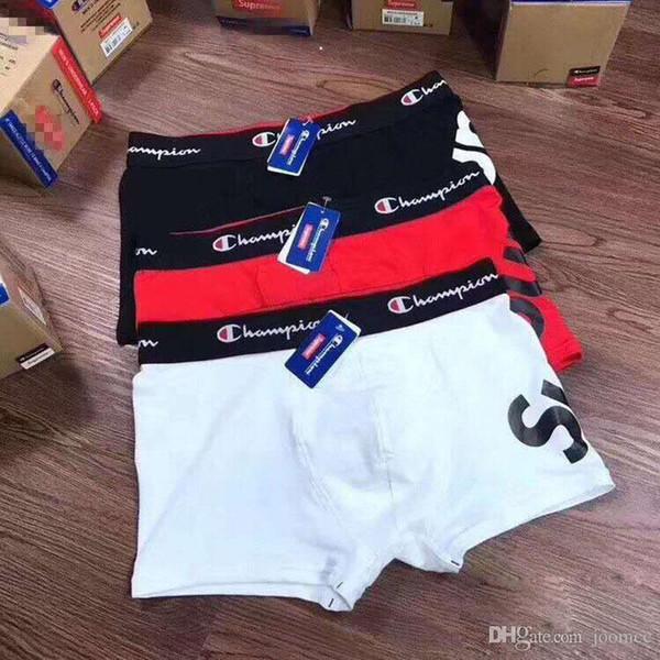Factory Wholesale Men Underwear Brand Boxers Cotton Breathable Letter Underpants Shorts Luxury Brand Designer Cuecas Tight Waistband