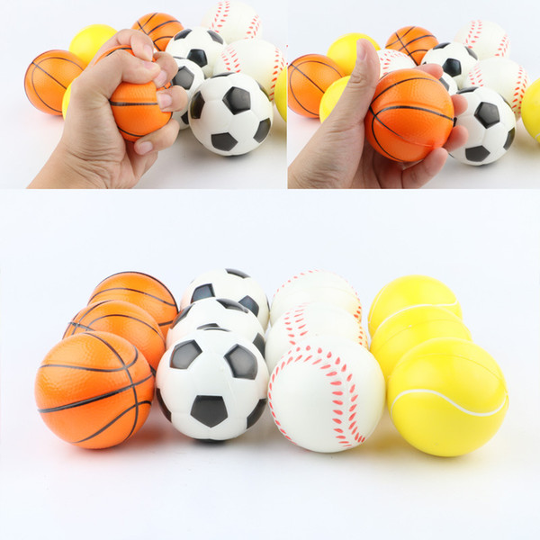 best selling Baseball Soccer Basketball Toy Sponge Balls 6.3cm Soft PU Foam Ball Fidget Relief Toys Novelty Sport Toys For Children GGA1868