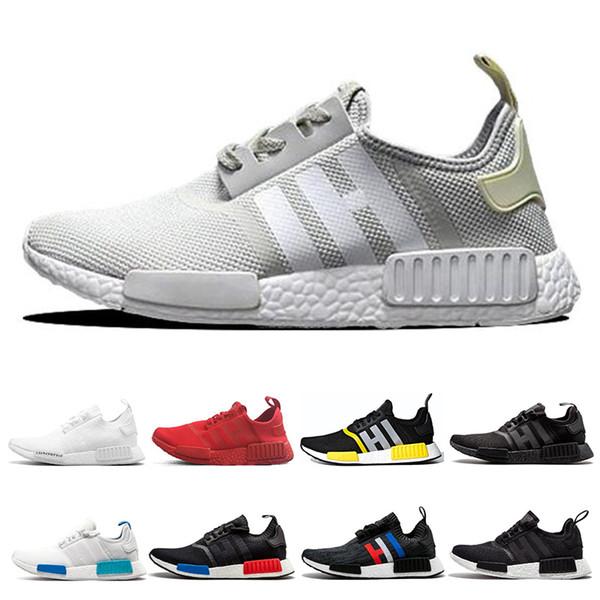 Acheter Adidas Nmd R1 Hommes Chaussures De Course De Race Japon Triple Blanc Noir Og Crème Oreo Camo Mens Formateurs Femmes Sport Baskets Taille 36 45