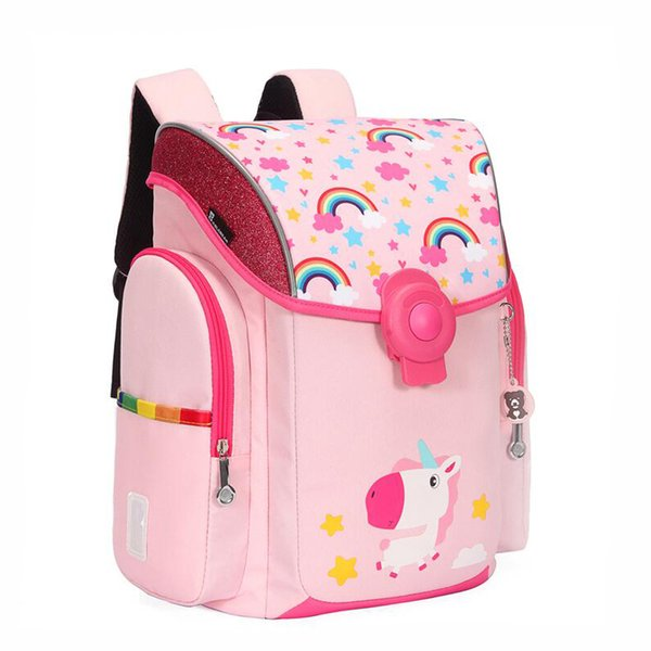 2019 New Brand Design Kids School Bag Cartoon Dinosaur Unicorn Zebra Backpack Boy And Girl Waterproof Orthopedics School Bags Y19062401