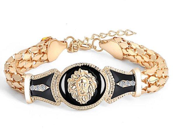 Avrupa ve Amerikan moda yılan kemik zincir alaşım rüzgar damla petrol aslan kafası bilezik takı kadın popüler takı bilezik