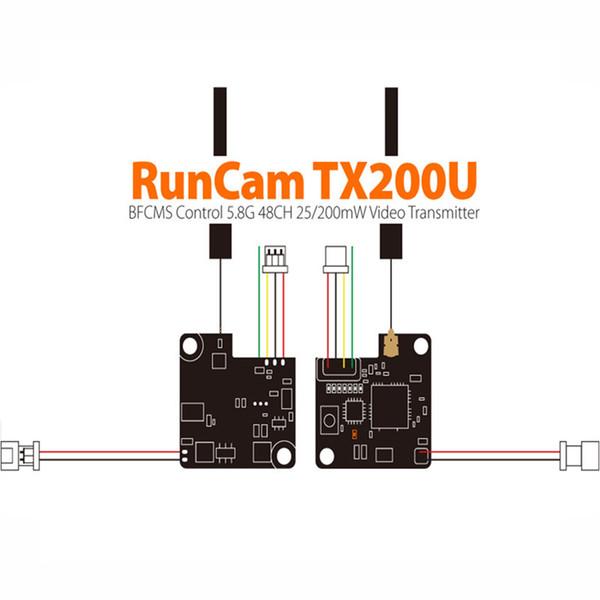 RunCam Orijinal YENI RunCam TX200U Mikro Mini Video Verici 5.8G 48CH 25 mw / 200 mw için Mikro Swift / Mikro 2 acessor