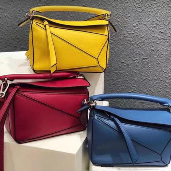 Новейшая головоломка женская винтажная сумка через плечо из высококачественной искусственной кожи PUZZLE bag / tote Come with Dust Bag cards