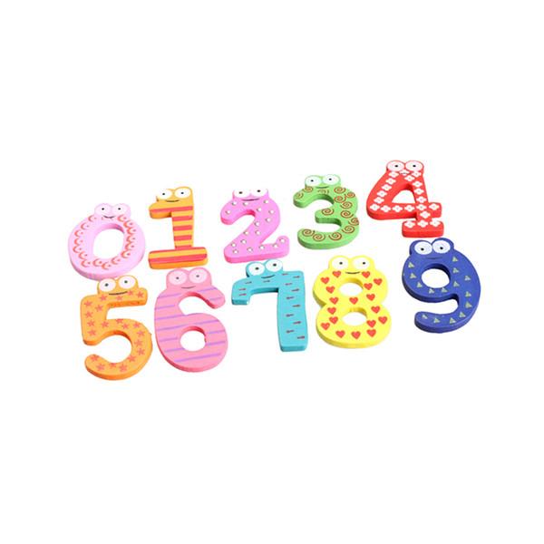 10pcs numéros mignon réfrigérateur en bois magnétique autocollant animal figure jouets - baisse