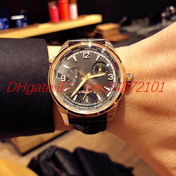 O novo relógio de homem da marca suíça com movimento mecânico automático importado, diâmetro de 42mm, caixa de aço inoxidável, espelho de vidro de safira, imp
