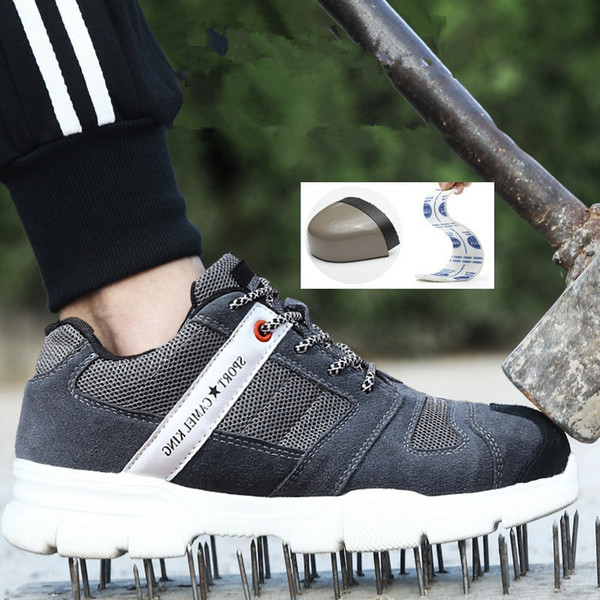 Four seasons Steel Toe Cap Safety Shoes Men Women Breathable anti-skid safety shoes Puncture Proof Construction Work sneakers