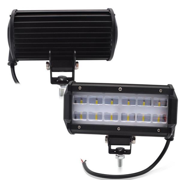 En gros 1 PCS 2 PCS 6 POUCES 36W LED LIGHT BAR Flood Beam Offroad SUV 4X4 Lampe de travail pour voiture tracteur bateau matériel militaire 12V