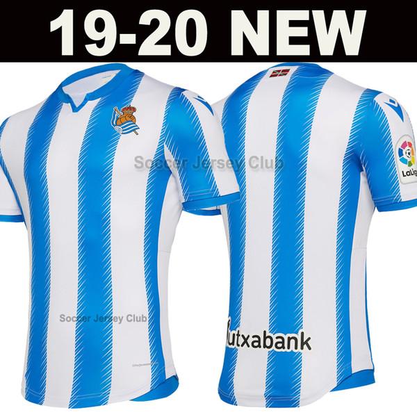 2019 2020 Real Sociedad maglie da calcio 19 20 casa blu bianco calcio maglia OYARZABAL WILLIAN JUANMI via terzo camisetas de fútbol