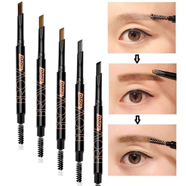 Eye Brow Make Up Rotating Double Head Eyebrow Pencil Makeup Pen Triangle  Refill Waterproof Long Lasting Beauty Cosmetics Hypoallergenic Makeup  Makeup