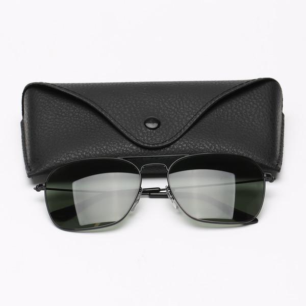 Lentes para hombre Gafas de sol de marca de moda mujer de las gafas Diseñador plaza doble puente de los vidrios de Sun Beach cristal de la manera des Gafas de sol
