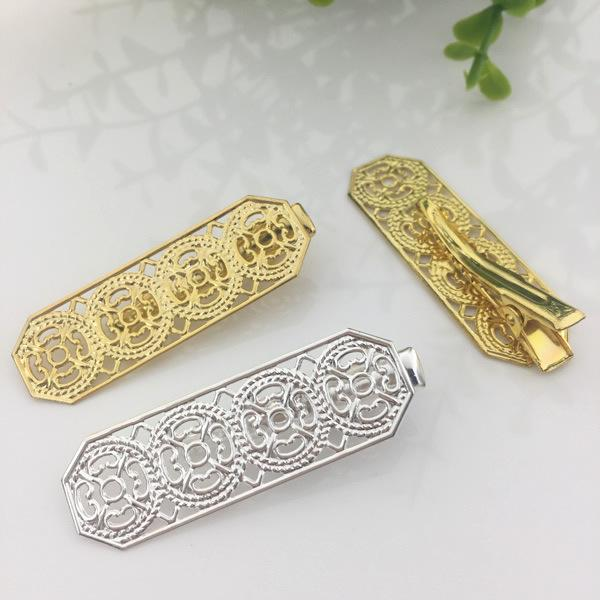 20pcs 30/25MM French barrettes Alligator clips hairpin setting rose gold silver hairclip antique bronze hair clip pin hairwear jewelry