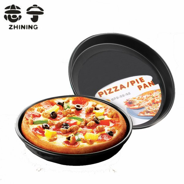 9 inch pizza pie pan high quality non-stick round 1pc baking dish bakeware kitchen accessories cooking tools free shipping Y-116