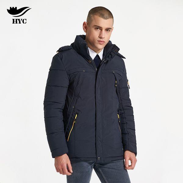 HAI YU Cheng зимняя куртка мужчины ватные парка мужской ветрозащитный длинные пальто плюс размер мужчины пальто верхняя одежда капюшон зима анорак