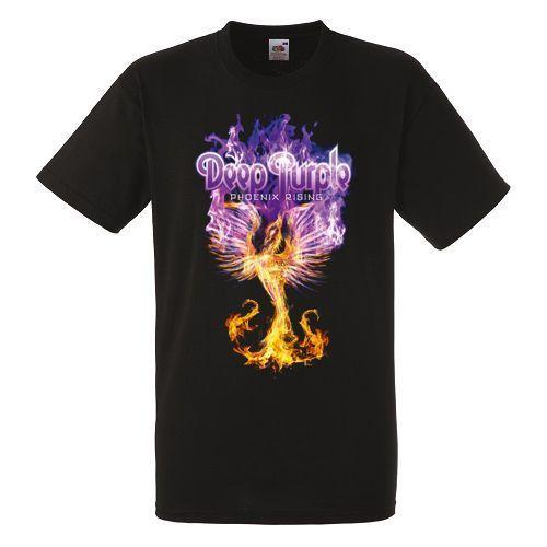 Deep Purple Phoenix Rising Black New T-Shirt Fruit of the Loom ALL SIZES Men Women Unise Shipping Funny Cool Top Tee Black