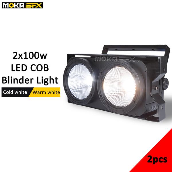 2piece/lot 2*100w LED COB blinder light Manual dimming + strobe function par light 2 Eyes Stage Led Audience Ligh