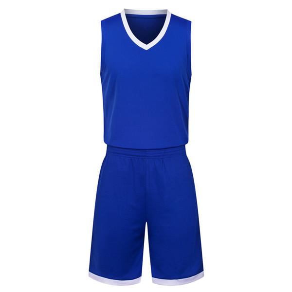 2019 Yeni Boş Basketbol formaları baskılı logo adam boyutu S-XXL ucuz fiyat hızlı kargo kaliteli Mavi A003
