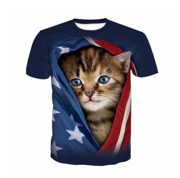 Doğrudan Satış Özel 3D Dijital baskı T-shirt tasarım erkek kısa kollu gömlek logosu ücretsiz moda DIY baskılı Tshirt