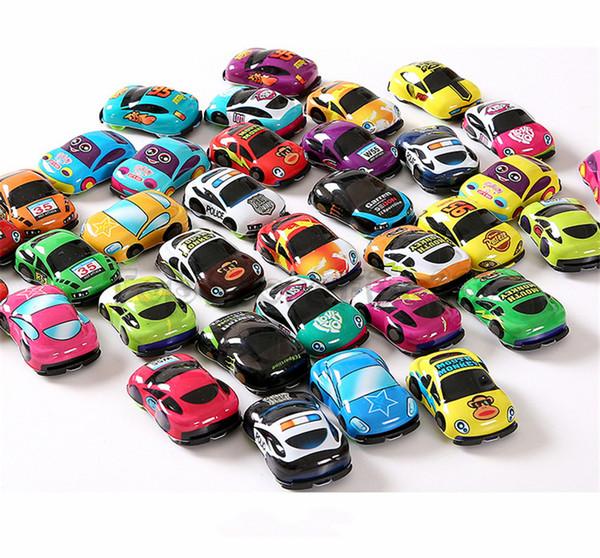 Compre Puxar Para Tras Dos Desenhos Animados Car Toys Car Abs