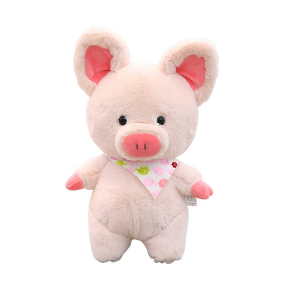 Children Baby Cute Cartoon Plush Toys Pig Dolls Stuffed Soft Dolls Eating Melon Pig Kids Birthday Gifts 35CM Toys for Children