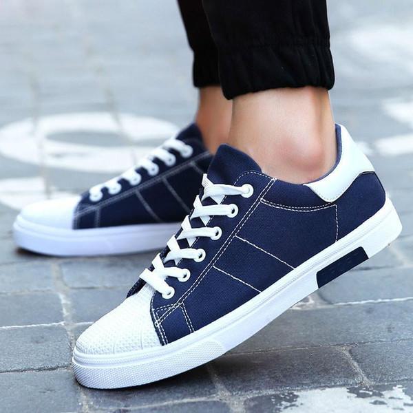 novos sapatos casuais homens s sapatos vulcanizados moda listrada homens s sapatos de lona plano personalidade confortável e acessível wearable