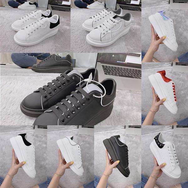 [Top-Qualität + mit box] 2020 Designer-Mode Luxus-Leder überdimensionierte alleinige Männer Frauen Plattform Marke Teller-forme McQueens shoesd026 #