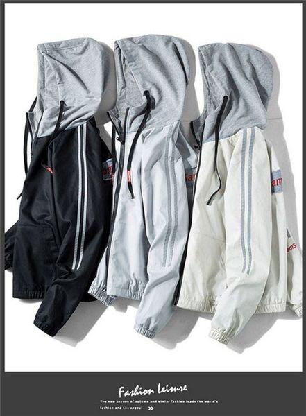 2019 Wholesale Mens Womens Designer Windbreaker Spring Autumn Zipper Hoodies Fashion Sports Jackets Gym Running Coats M-4XL B100127Q