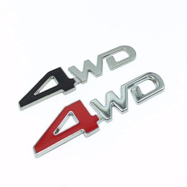 3D Chrome En Métal Autocollant 4WD Emblème 4X4 Insigne Decal Car Styling Pour Honda CRV Accord Civic Suzuki Grand Vitara Swift SX4