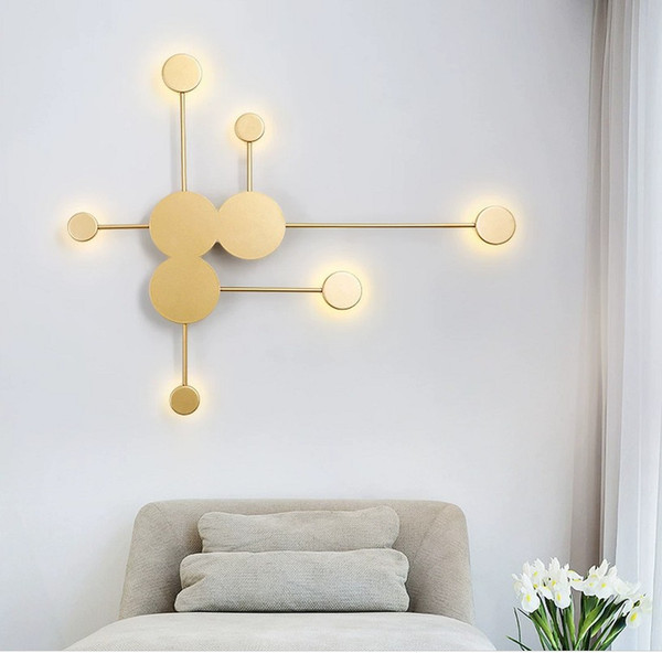 2019 Postmodern Minimalist Art Designer Living Room Decorative Wall Lamp Creative Simple Personality Bedside Led Wall Light From Wenyiyi 95 48