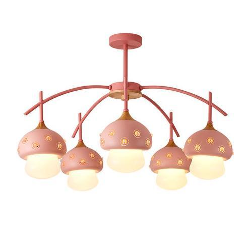 Pendant Lights Led Pendant Lamps For Creative Mushroom Shape Children\'S  Bedroom Nordic Retro Ceiling Wooden Pendant Chandeliers Lightings Bedroom  ...