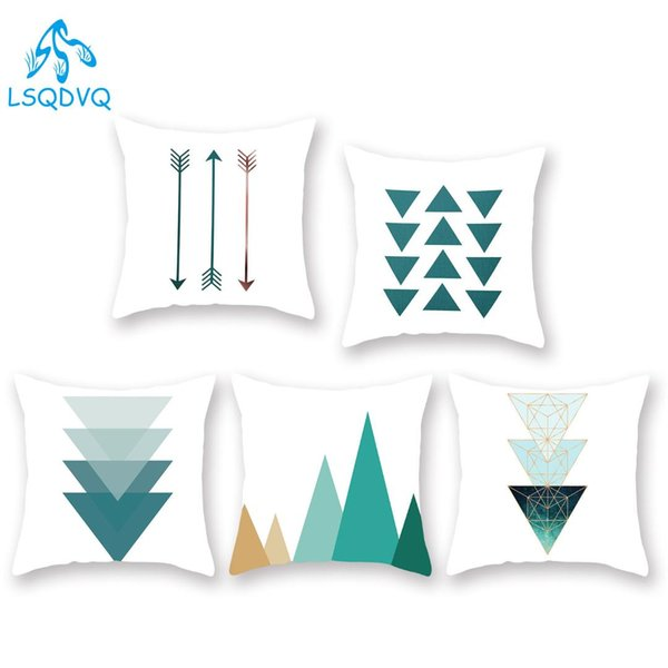 Awesome Nordic Style Couch Pillows Covers Green Geometric Wave Stripe Decorative Pillows Case Polyester Cushion Cover For Sofa Home Car Sunbrella Replacement Pdpeps Interior Chair Design Pdpepsorg