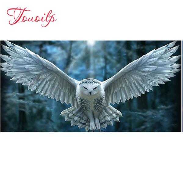 wholesale DIY 5D Diamond Painting Cross Stitch Owl Picture of Rhinestones Full Square Resin Diamond Embroidery Kits Needle Gift