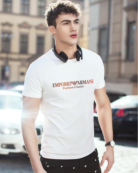 T-shirts à la mode pour les hommes Hip Hop Coton Hommes off Vêtements T-shirt Col Rond milliardaire Homme Tops D'été Manches Courtes Noir T-shirt Blanc