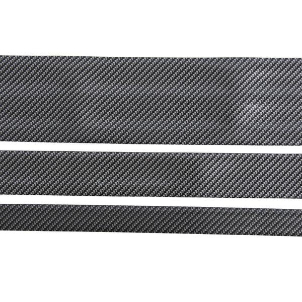 5cm 1Meters Car Sticker Carbon Fiber Rubber Edge Guard Strip Door Sill Protector