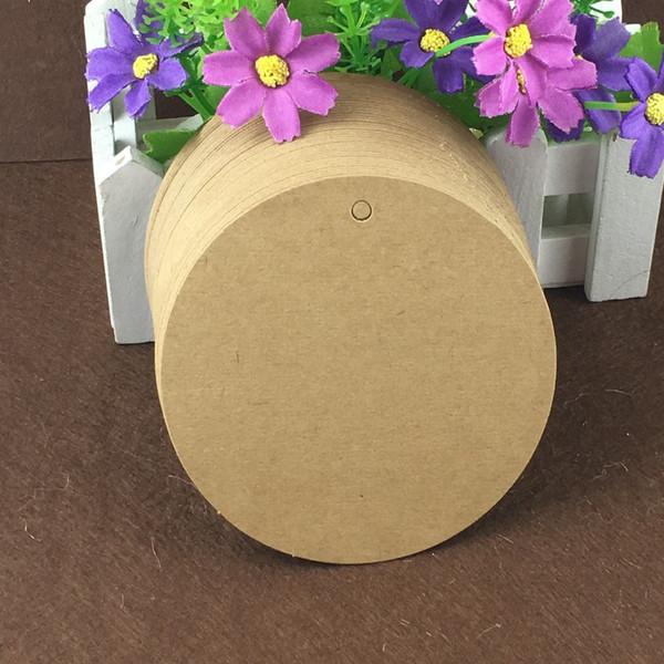 1000pcs Blank Round Large Size Hang Tag Circle Brown Kraft Paper Material Hang Tags Accept Customizable
