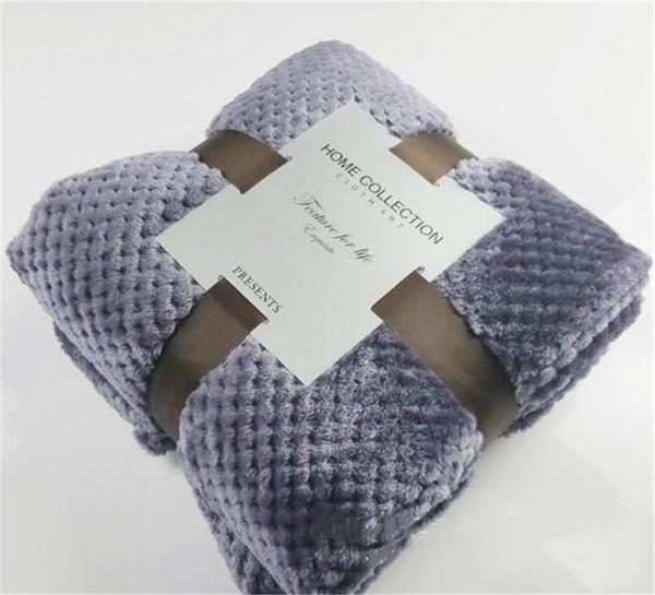 10 cores pura cor Mesh design cobertor coral fleece cobertor de flanela sofá mat Confortável tecido saudável respirável.