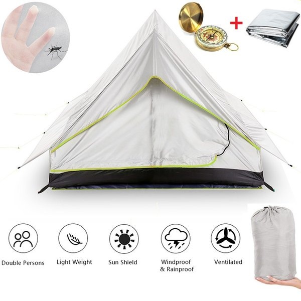 Ultra-light Portable 2 Person Double Door Mesh Tent Shelter Perfect Outdoor Sports Tents for Camping Backpacking Tent