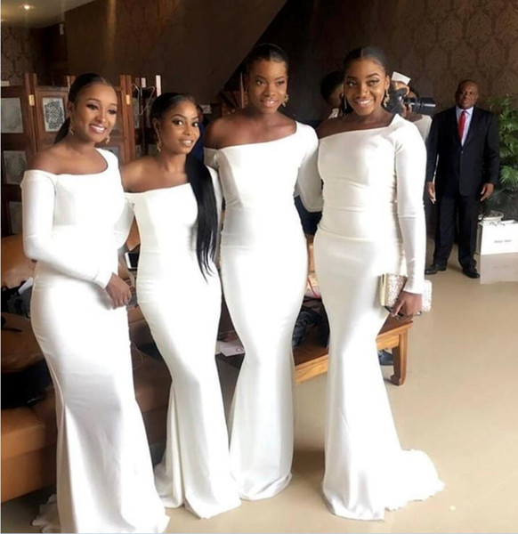 unique design half off available Unique Design Bridesmaid Dresses African 2019 Maid Of The Bride Long  Sleeves Mermaid Evening Gowns Formal Occasion Wear Plus Size Black  Bridesmaids ...