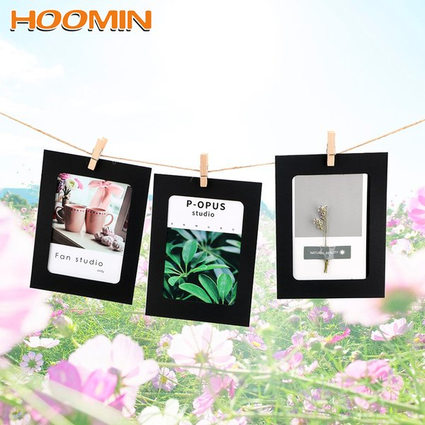 HOOMIN 6 Inch Wall Photo Frame Vintage Craft Paper Photo Frames 10pc/set DIY Hanging Picture Album Party Wedding Decoration