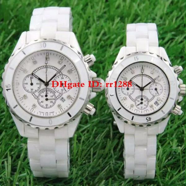 Best Quality Fashion watch series white ceramic case bezel Quartz movement Unisex mens womens Watches Love's watch Wristwatches