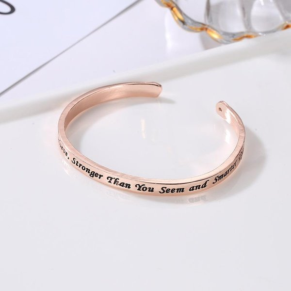 Letter bracelet bangle lovers' gift plating English letter C-shaped bracelets Open Bangles Fashion jewelry accessories cuff bangle