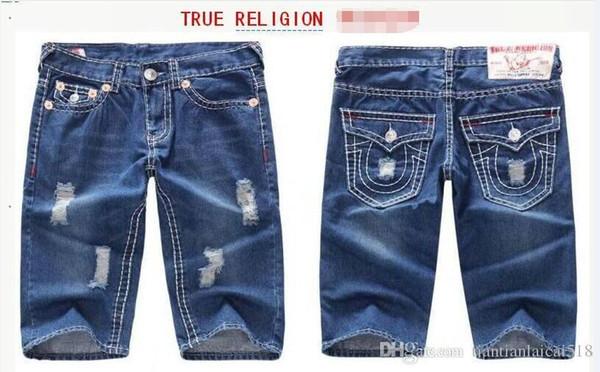 2018 Famoso marchio Robin jeans corti uomini marea estate designer robin jeans per uomo vero biker moda breve robin rock revival jeans shorts