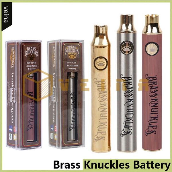 Аккумуляторная батарея из латуни 650mAh Золото 900mAh Дерево Регулируемый переменный ток Разогрев O Ручка Bud Touch VV Батарея для густого масляного картриджа