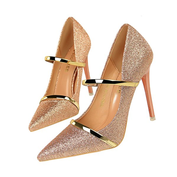 Clubwear Lady Dress Shoes Women Heels Pumps High Heels Festival Party Wedding Shoes Stiletto Formal Pumps Business Shoes GWS603