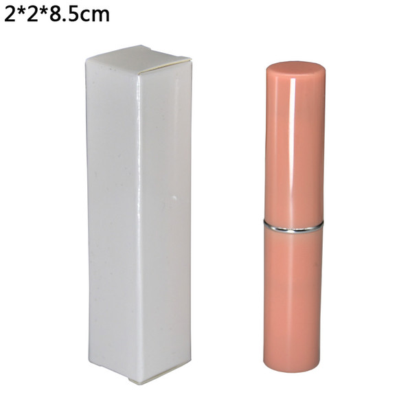 2*2*8.5cm Reflective White Kraft Paper Box for Gift Packaging DIY Lipstick Package Paperboard Boxes Foldable Paper Box 50pcs/lot