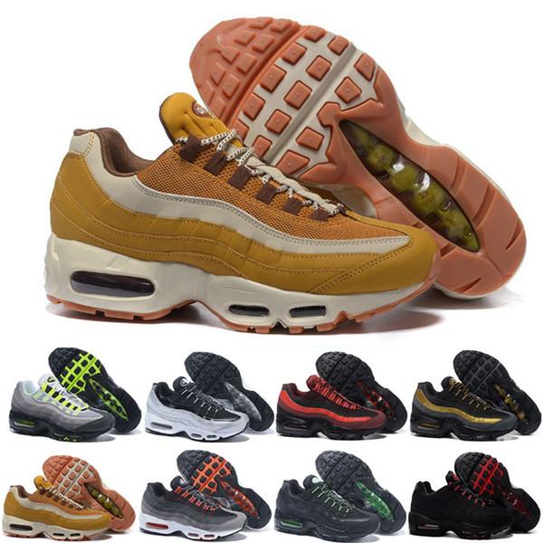 nike air max 95 airmax Transporte da gota Por Atacado Sapatos de Corrida Dos Homens Almofada OG Sneakers Botas Autênticas New Walking Desconto Calçados Esportivos Tamanho 36-46