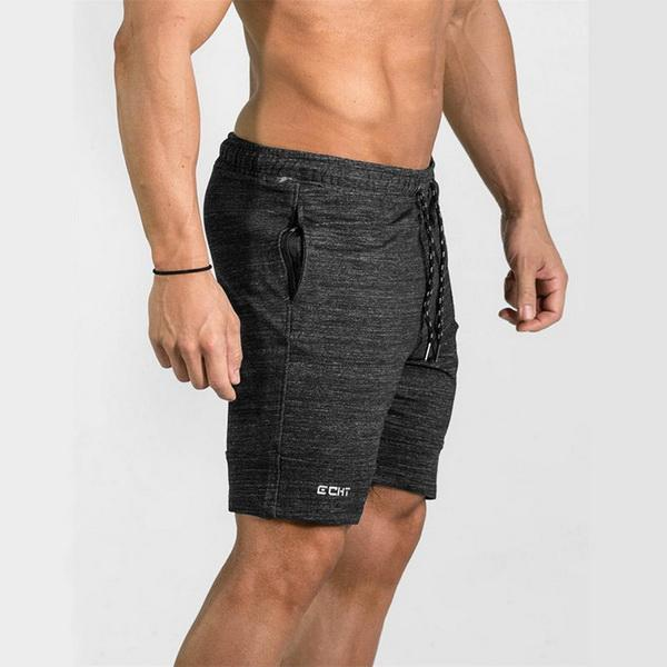Muscle gym Brothers Leisure Fitness Elastic Shorts Slim Five-minute Pants for Body-building and Air-breathing Elastic Basketball Training